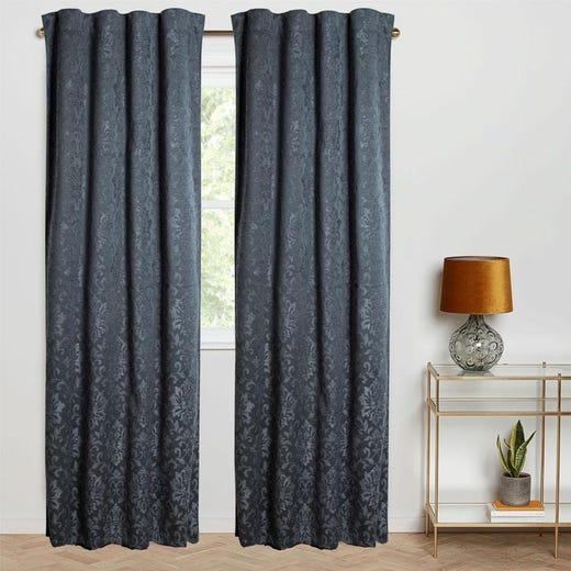 OTTILIA Jacquard Blackout Curtain - 1 Panel (Dark Grey)