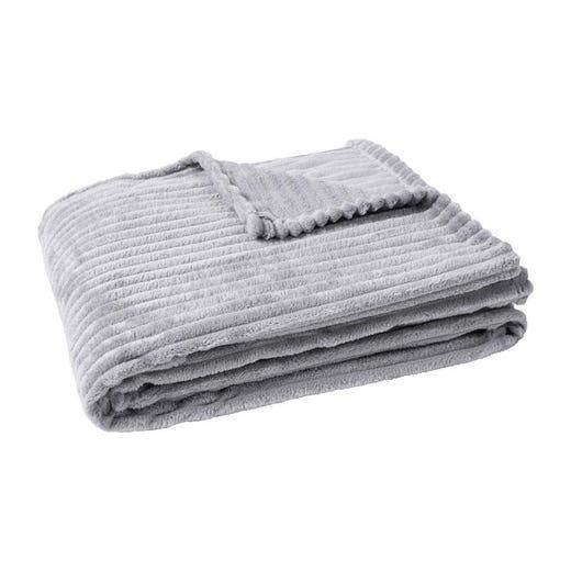SIRI Grey Throw Blanket