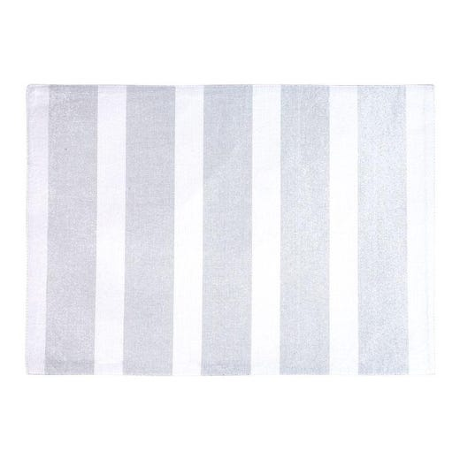 STRIPED GLIMMER Silver Placemat