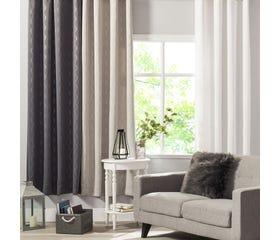 TRELLIS Light Blocking Curtain - 1 Panel (White)