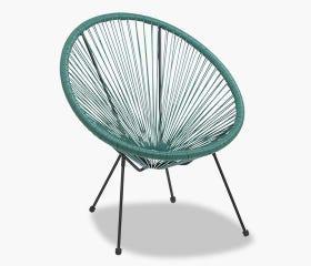 Outdoor Acapulco patio chair, dark green