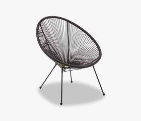 Black UBBERUP Kids outdoor papasan chair
