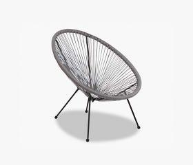 Grey UBBERUP Kids outdoor papasan chair