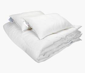UNIQUE synthetic medium-warm Duvet & Pillow Set, Twin