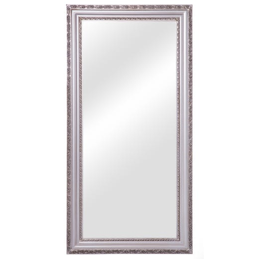 AMERICA Frame Mirror With Beveled Glass (Silver)