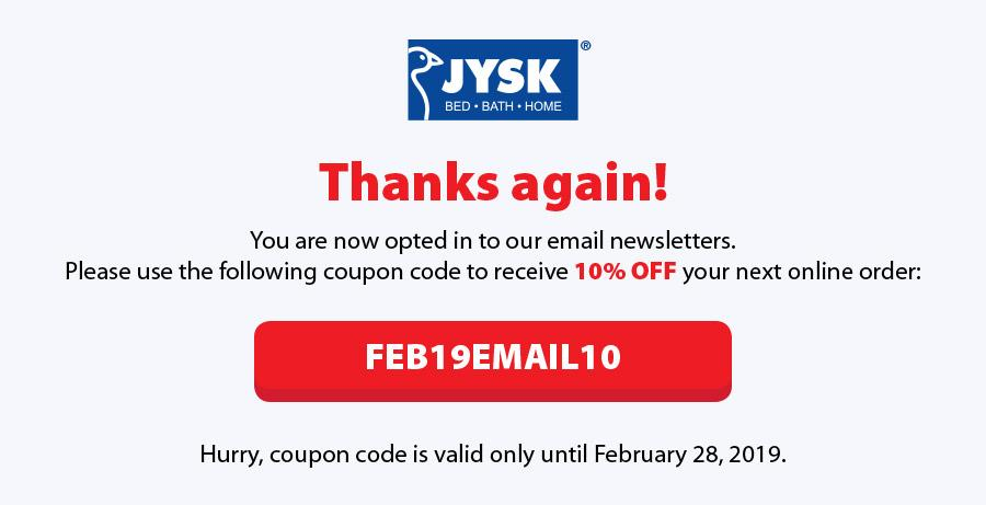 Thank you for opting in to our email newsletters