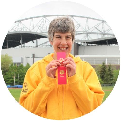 Brita Hall, Special Olympics Gold Medalist