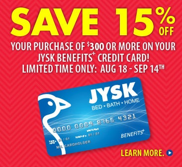 JYSK Credit Card Promo