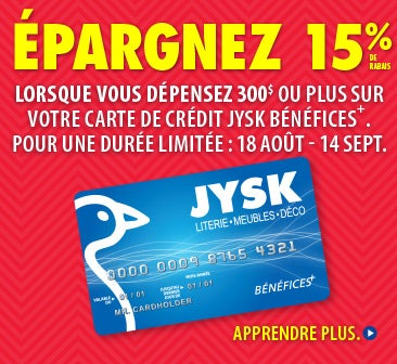 Carte de Crédit JYSK Bénéfices