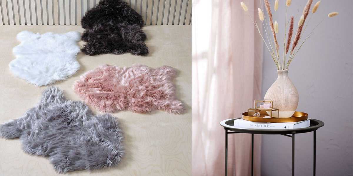 Faux Fur Area Rugs and Accent Table JYSK Canada