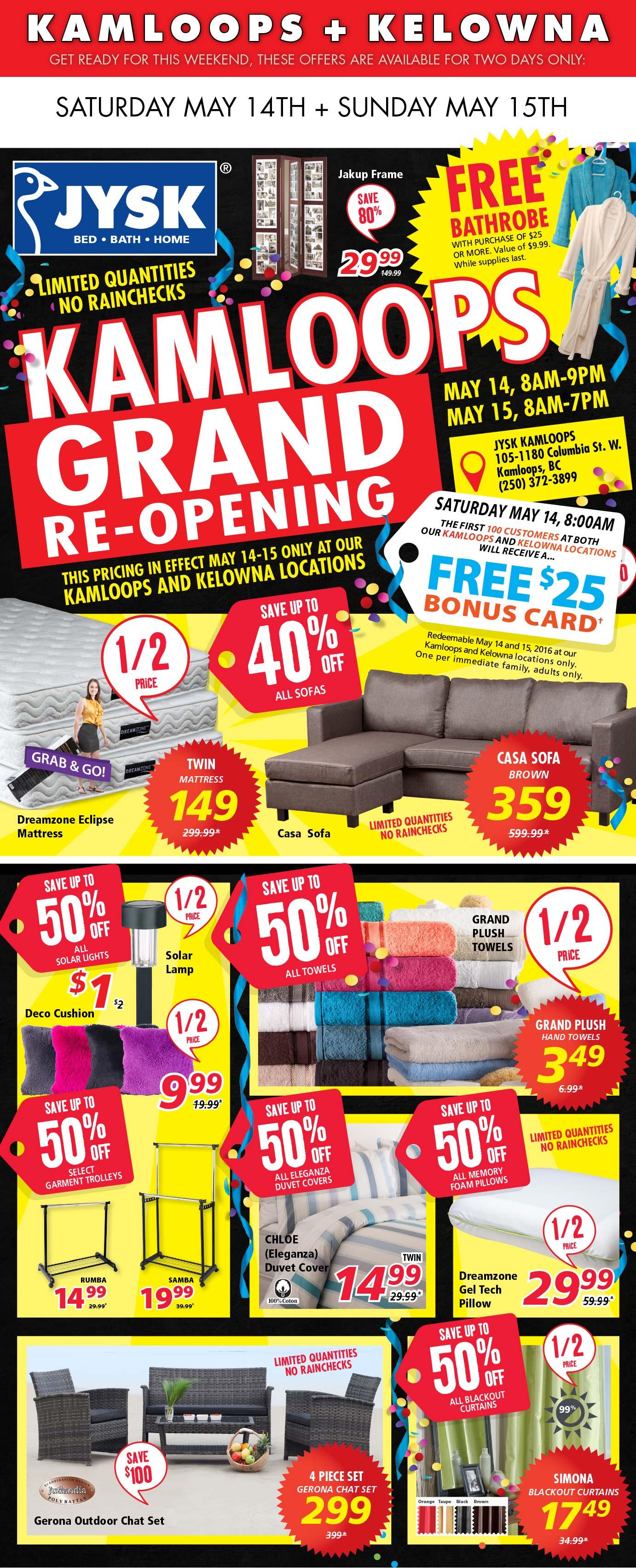Kamloops Grand ReOpening Event this weekend