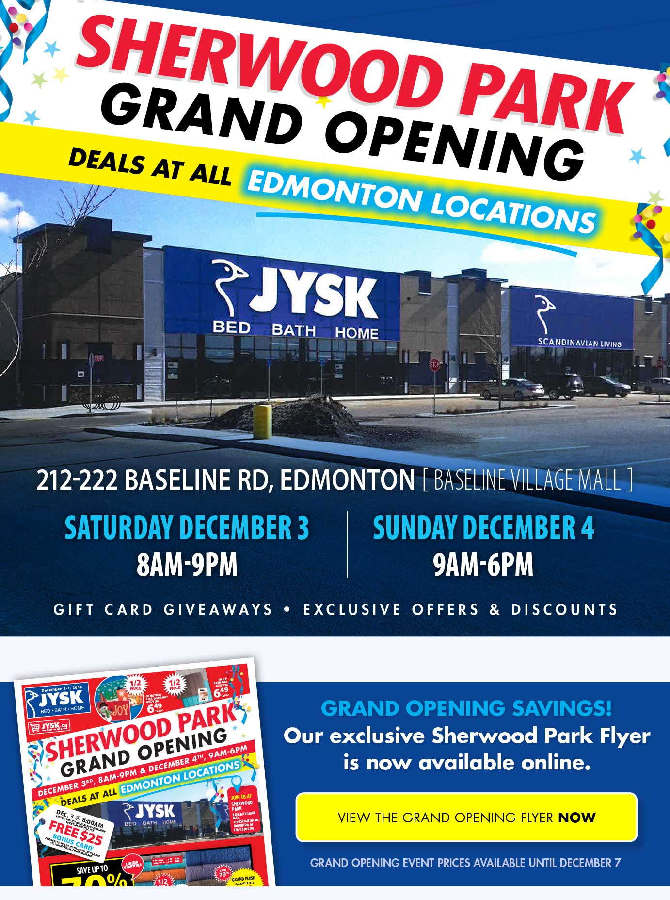 Sherwood Park Grand Opening Event!
